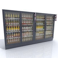 Commercial Wine Fridge with bottles